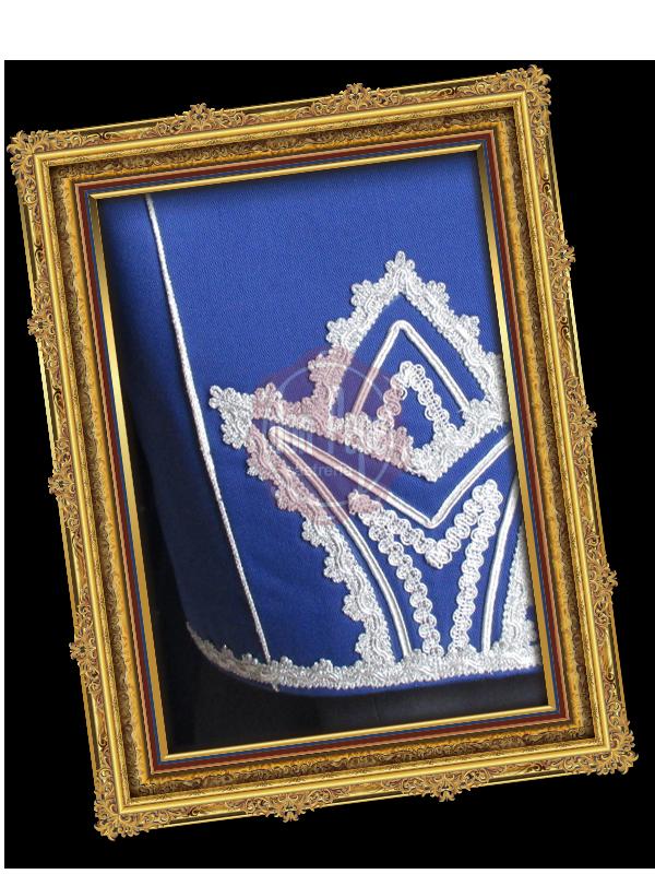 Traje Rondeño Azulete con Plata